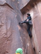 Rock Climbing Photo: Black corner!!! Indian Creek, 11-