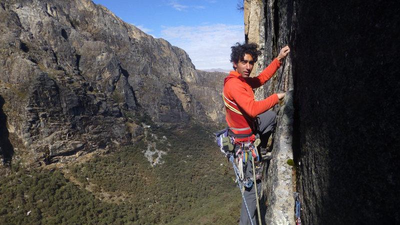 Karma de los Condores, 11+ rock route near Ranrapalca and Tocllaraju in Cordillera Blanca, Peru