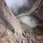 Rock Climbing Photo: Bailey Crawford on the 16th pitch of Time Wave Zer...
