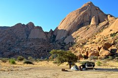 Rock Climbing Photo: Camping at the base of Spitzkoppe (2013).