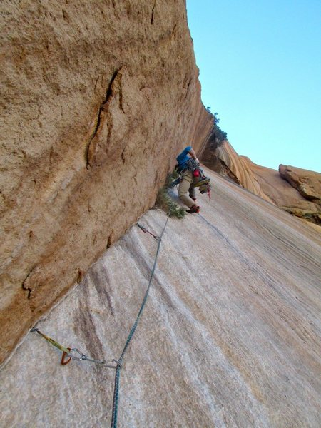 Watersports route - a short multi-pitch on Spitzkoppe.