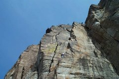 """Rock Climbing Photo: One of the 465 routes established without """"le..."""