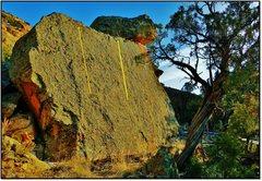 Rock Climbing Photo: Tactile Style problem beta in orange.