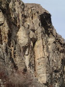 Rock Climbing Photo: Owl Crack (central corner)
