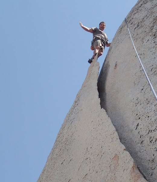 Rock Climbing Photo: Fun Flake… on TR!