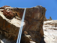 Rock Climbing Photo: The overhanging crux area.