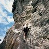 Jason Henrie climbing at the Bat Caves, ca. 1995