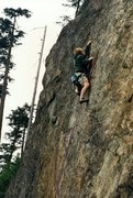 Rock Climbing Photo: Lower Samish Wall, ca. 1995