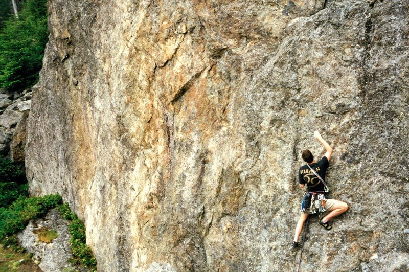 Rock Climbing Photo: Jason Henrie on the Lower Samish Wall, ca. 1995
