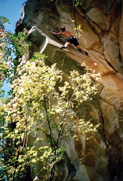 Rock Climbing Photo: Jason Henrie on 'Spawning Effort', Governor Lister...