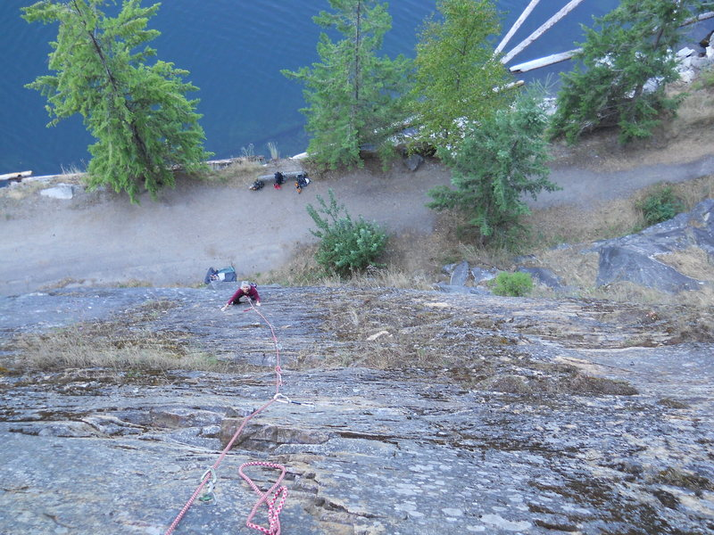 Rock Climbing Photo: SLOCAN LAKE BLUFFS A surprisingly steep 5.6 on cha...