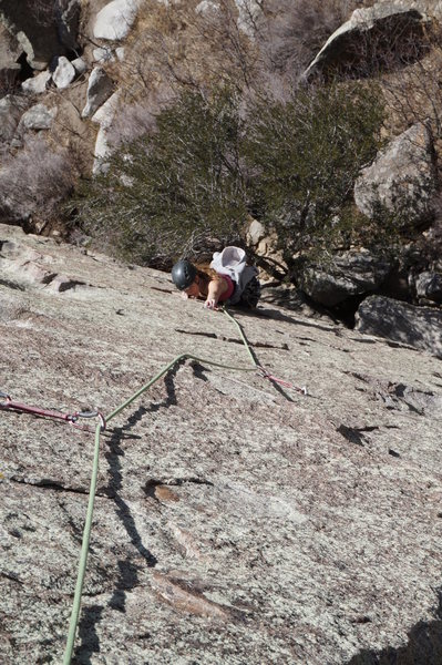 Rock Climbing Photo: Coming up the final section of the first pitch of ...