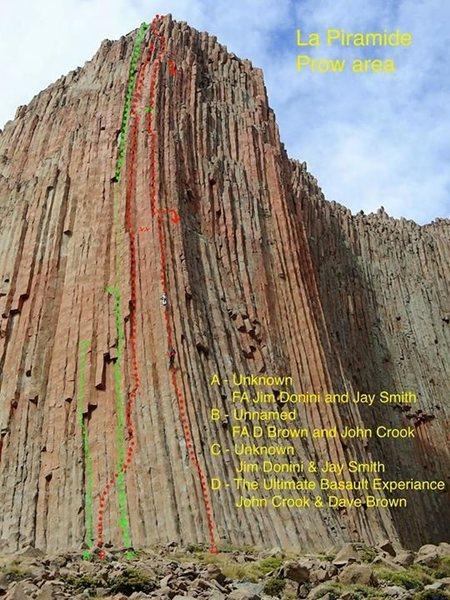 Rock Climbing Photo: La Proa routes