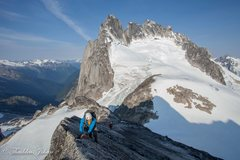 Rock Climbing Photo: The Howser Towers from Pigeon Peak in the Bugaboos...