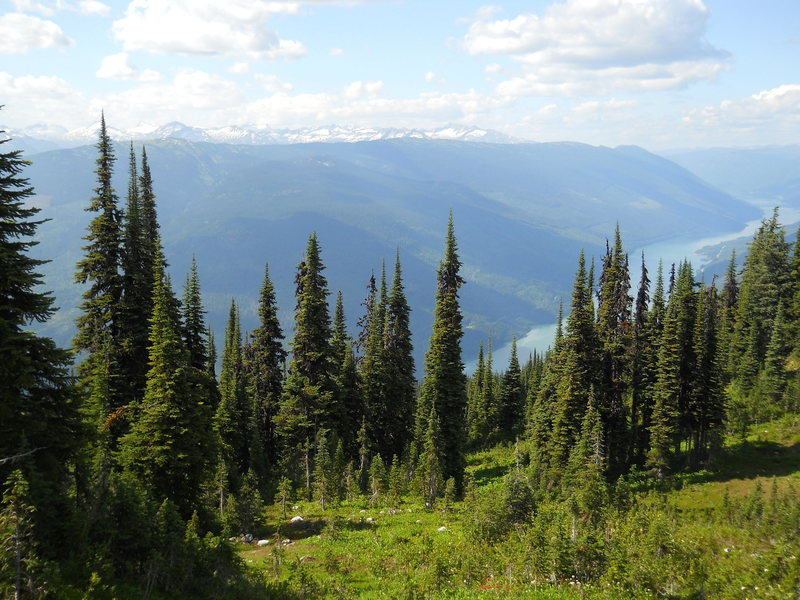 The northern Monashee range and Columbia River from Mt Revelstoke.<br> <br> by KT