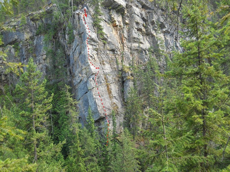Rock Climbing Photo: Blanket Creek Arete 2 pitches, 5.10  by KT