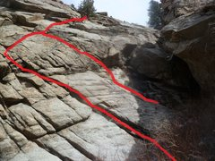Rock Climbing Photo: The first part of the route.