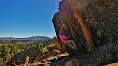 Rock Climbing Photo: Sticking the gaston on Skookum.