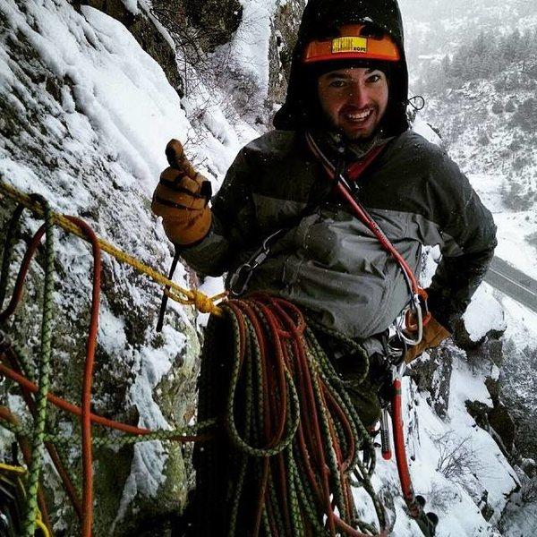 Rock Climbing Photo: First belay.