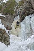 Rock Climbing Photo: Serge on the first head-wall