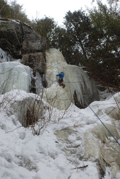 Rock Climbing Photo: Serge toproping Princesse de glace