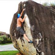 Rock Climbing Photo: Michael Madsen sends the classic arete problem Pee...