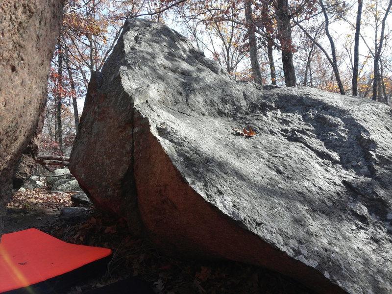 Arete on RH boulder