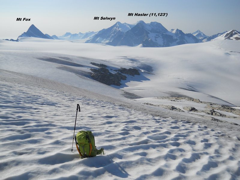 Rock Climbing Photo: Looking south to the Illecillawaet Neve, Selkirk M...