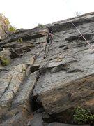 Rock Climbing Photo: Sunshine Crack, 5.8  by KT 2012