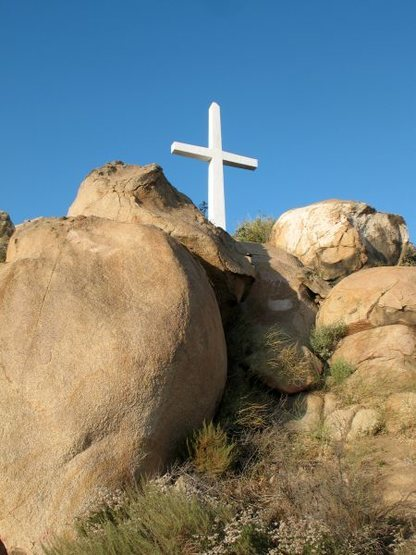 Rock Climbing Photo: Cross Rock, Mount Rubidoux
