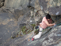 Rock Climbing Photo: Ben Flores following the first lead ascent.