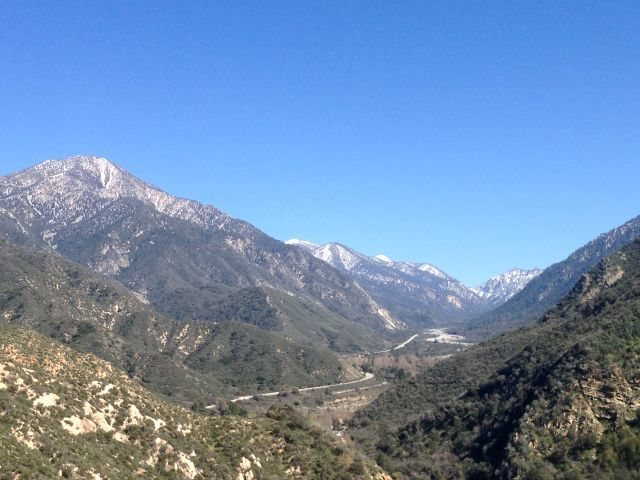Rock Climbing Photo: Highway 38 from 1N12, San Bernardino Mountains