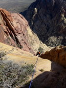 Rock Climbing Photo: top of P4