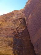 Rock Climbing Photo: burly lieback on P5