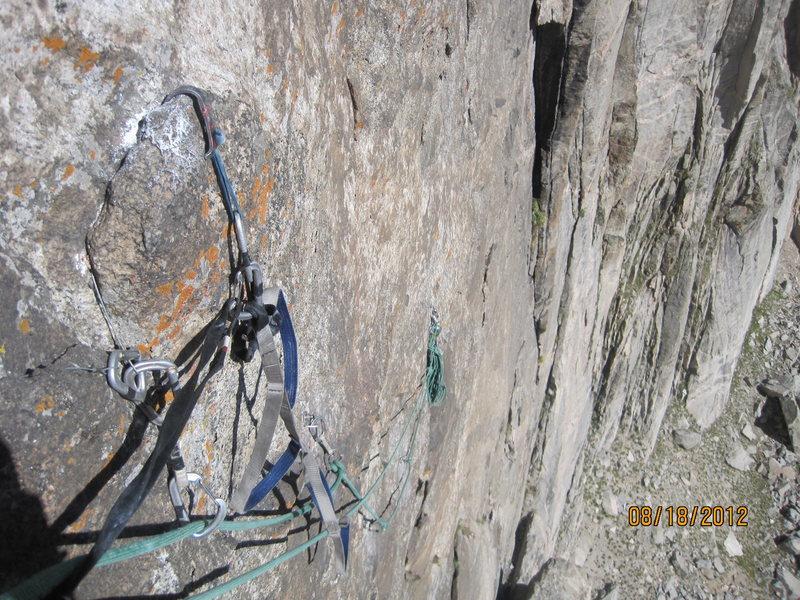 Rock Climbing Photo: Black Wall proj....