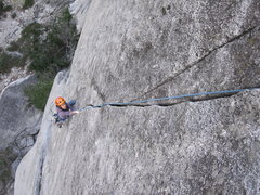 Rock Climbing Photo: Green camalot jams half way through the first pitc...