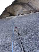 Rock Climbing Photo: Taken mid-pitch.