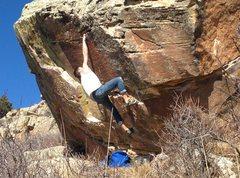 Rock Climbing Photo: Muscle Cling.