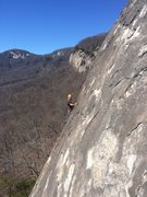 Rock Climbing Photo: Climber on Flakeview