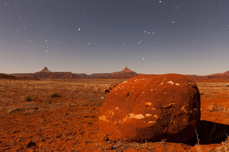 Rock Climbing Photo: The Sixshooters and Orion by moonlight.