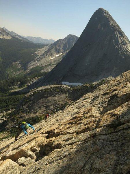 Rock Climbing Photo: Scenic slabbing.