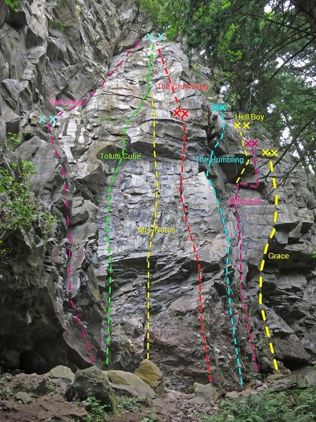 Rock Climbing Photo: Mordor Topo
