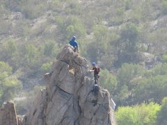 Rock Climbing Photo: Chad Parker and Jack Emery on the summit of Dope N...