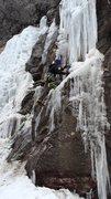 Rock Climbing Photo: Eric Dixon on first pitch.