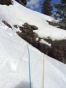 Rock Climbing Photo: Eric Dixon, finishing pitch four.