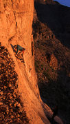 Rock Climbing Photo: Ed starts up the route for  an evening cool down T...