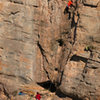 Ed and Mike warm up on<br> Lucius  (5.10-)