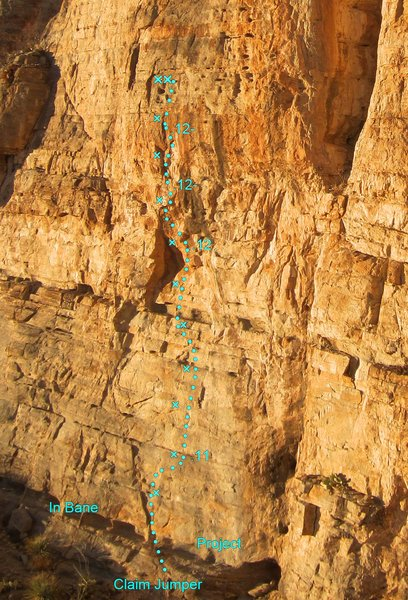 Rock Climbing Photo: Claim Jumper Topo