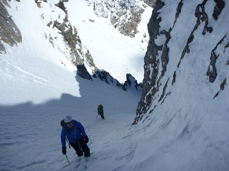 The couloir south of Emerald Lake.