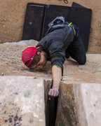 Rock Climbing Photo: Shot from the top. Photo by Max Owens
